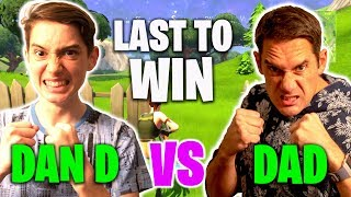 LAST TO WIN FORTNITE!! - Dan D Vs Dad Gorgeous - Loser spends $1000 on Credit Card!