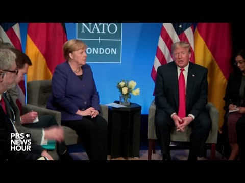 Watch: Trump holds meeting with Angela Merkel at 2019 NATO summit