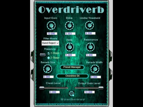 Get just a little bit dirty with Syntheway's Overdriverb plugin | MusicRadar