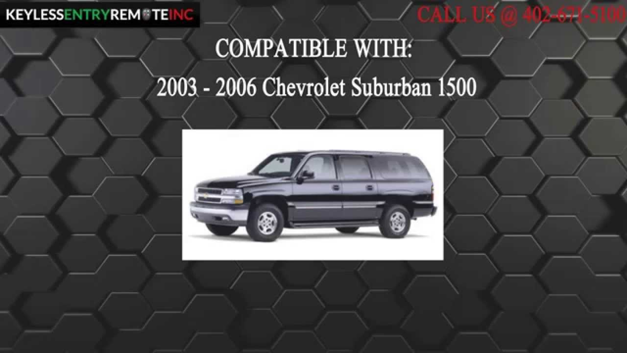 How To Replace Chevrolet Suburban 1500 Key Fob Battery 2003 2004 2005 2006