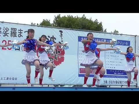 丸亀高校応援部チアチアダンス2019まるがめ婆娑羅まつりBASARA広場会場