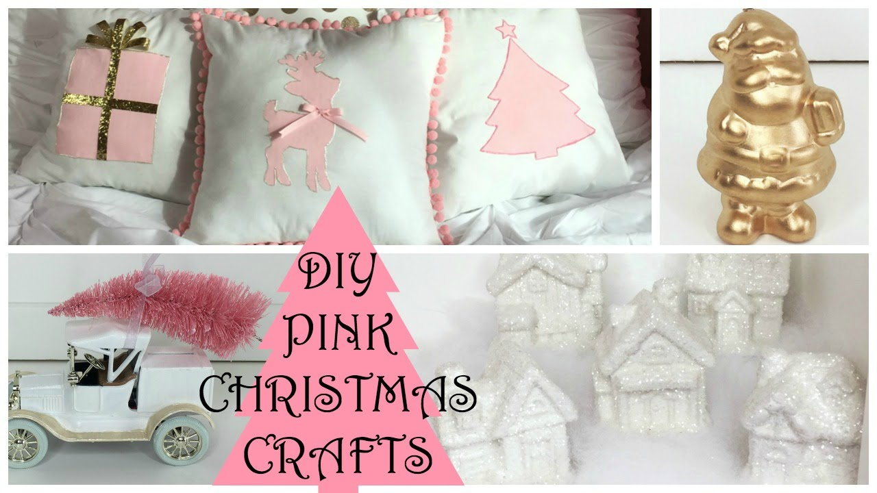 christmas diy crafts 2015 part 3 pink christmas decorations - Pink Christmas Decorations