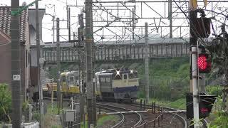【ヨ8000形付き】キヤE195系甲種輸送