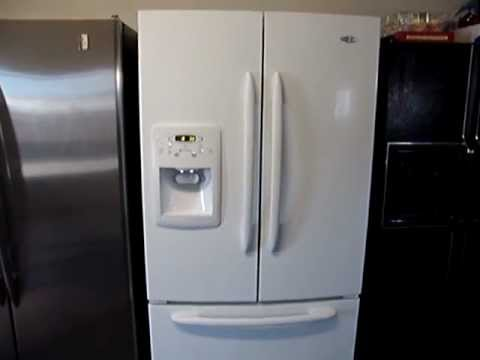 MAYTAG WHITE FRENCH DOOR REFRIG WITH ICE AND WATER IN DOOR