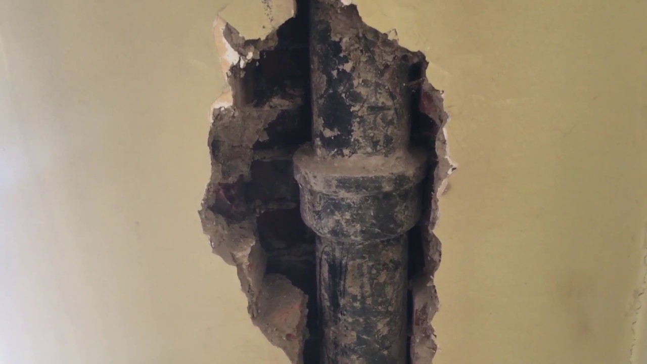 How To Repair Sewer Drain Pipe And Of Wall You