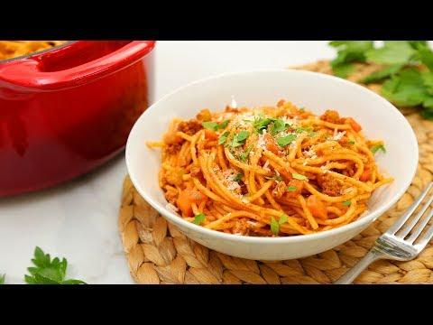 3 Delicious One Pot Pastas | Spaghetti Bolognese, Pesto Penne, Ham & Swiss Farfalle!