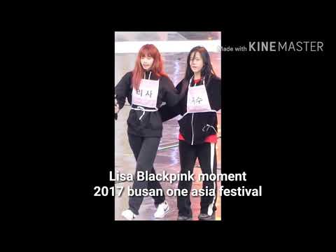 Lisa Blackpink moment with ikon  2017 busan one asia festival