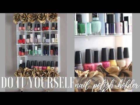 diy-nail-polisher-organizer-|-diy-tuesdays-|-kelsley-nicole
