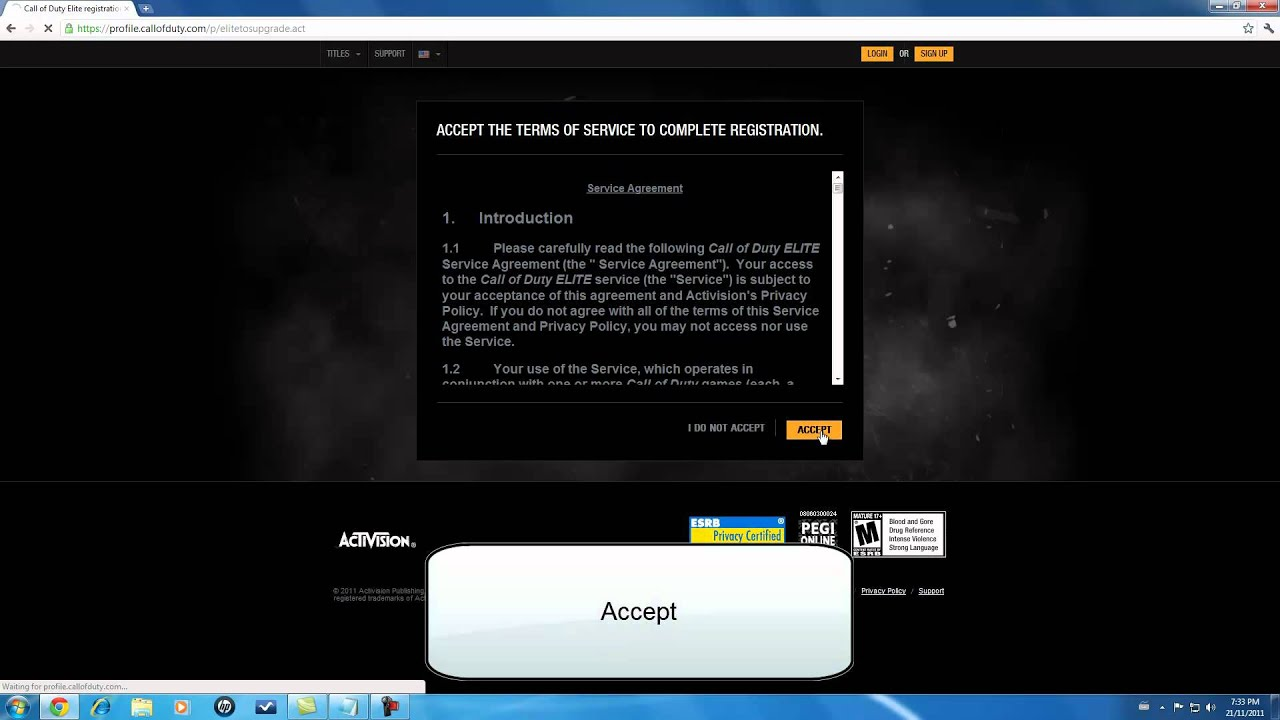 how to login on call of duty elite