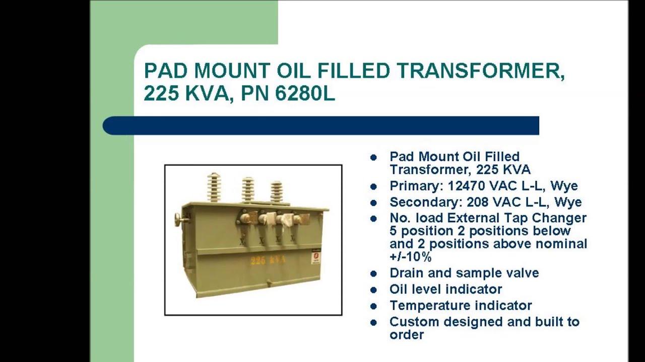 OIL FILLED TRANSFORMERS - L/C Magnetics