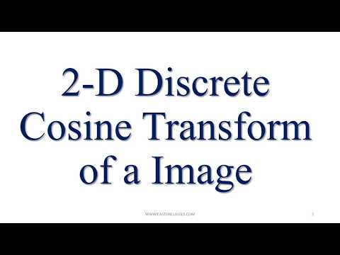 MATLAB Program for Discrete COSINE transform