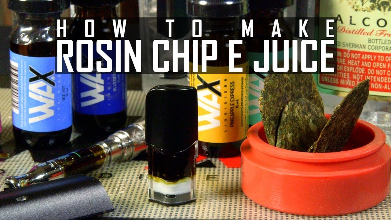 how to make cannabis e juice with rosin chips ethyl alcohol wax