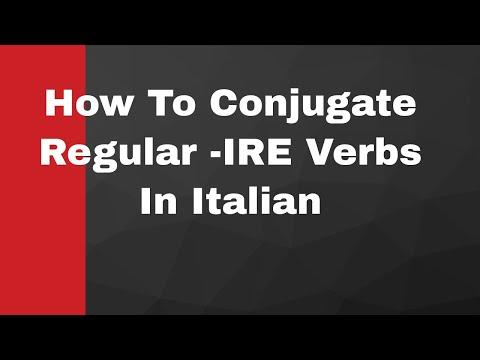 Learn Italian - How To Conjugate Regular -IRE Verbs