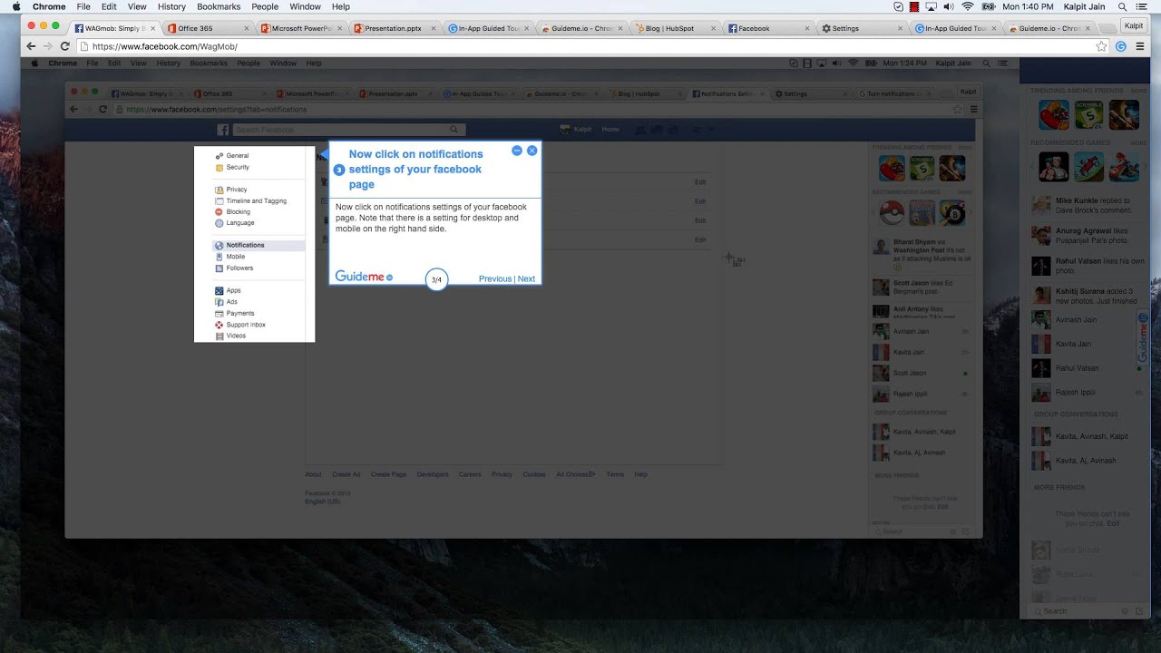 How To Stop Chrome Browser From Showing Facebook Notifications At Your Mac  Desktop  Youtube