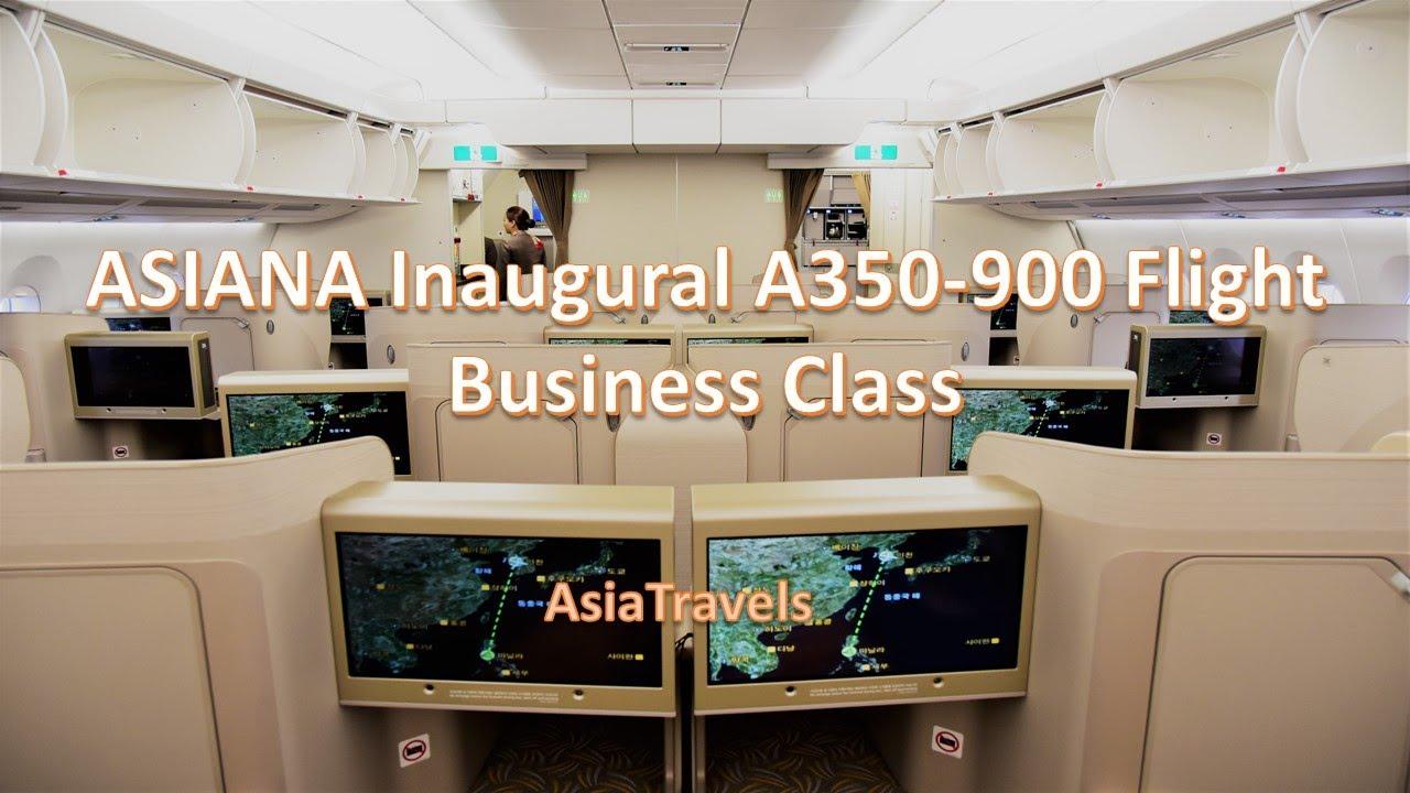 Asiana Inaugural A350-900 Business Cl Seoul to Manila - YouTube