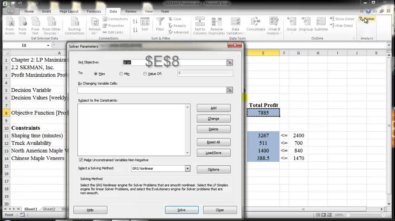 Excel Solver Basics Tutorial - Dr Kenneth Chelst- Wayne State ...