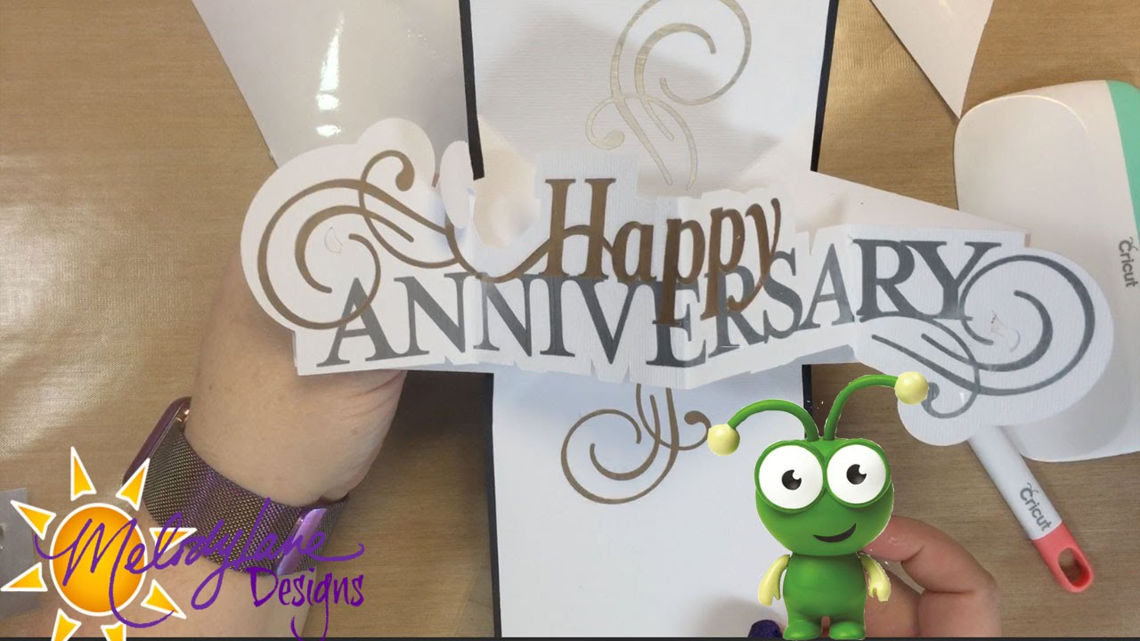Cricut wedding anniversary card sweethearts cartridge cricut