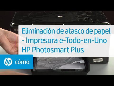 Eliminación de atasco de papel - Impresora e-Todo-en-Uno HP Photosmart Plus | HP Printers | HP