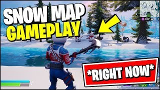 FORTNITE Chapter 2 SNOW MAP GAMEPLAY *SNOWING RIGHT NOW* (Christmas Event 2019)