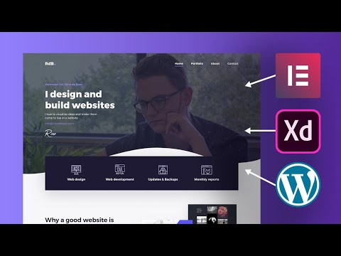 Building my Header in Elementor Wordpress from an Adobe XD web design