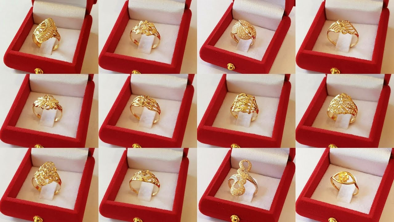 3a89b8b0fcdae Simple gold Finger rings designs New Collection