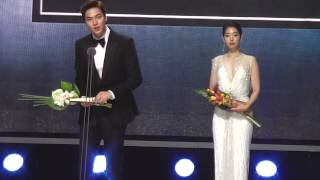 150526 Park Shin Hye パク シネ Lee Min Ho イ ミンホ Baeksang Arts Awards