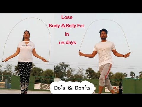Skipping Workout for Weight Loss in Telugu ||DO'S & DON;TS || Loss Belly fat fast in telugu