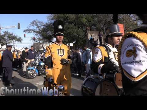 Southern University vs Alabama State Marching Band - 2017 Mardi Gras Parade