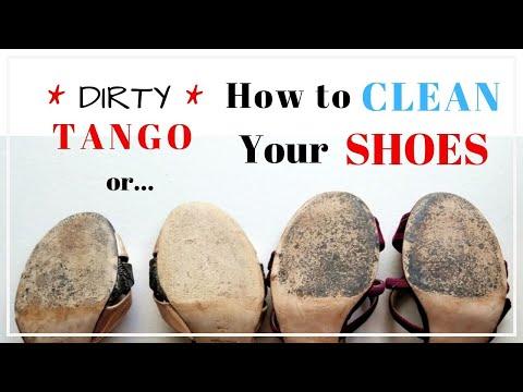 DIRTY TANGO - How to CLEAN your SHOES (2019) -- Как Чистить Танцевальные Туфли