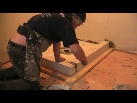 Schluter Shower Kerdi Kit Installation, Part 1   YouTube