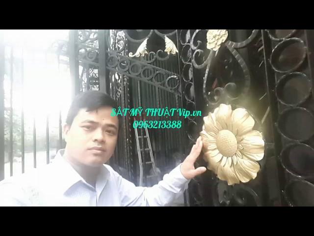 Thi công cửa cổng sắt nghệ thuật tại Hà Nội