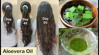 Homemade Aloevera Hair Oil for Double Ha...