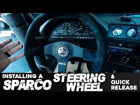 INSTALLING A NEW SPARCO STEERING WHEEL & QUICK RELEASE