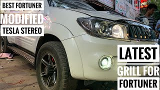 Old Fortuner modified |Tesla type stereo in Fortuner | Fortuner grill modified |Alloys modified