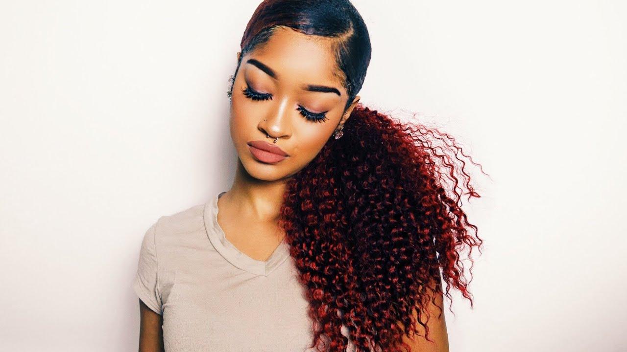 my sleek ponytail x extensions - youtube