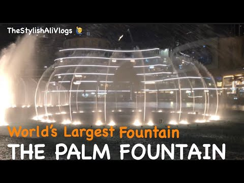Amazing Dancing fountain show in dubai | The dubai fountain video Dubai world's largest fountain |
