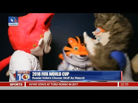 News@10: Russia Voters Choose Wolf As Mascot For 2018 FIFA World Cup 22/10/16 Pt 4