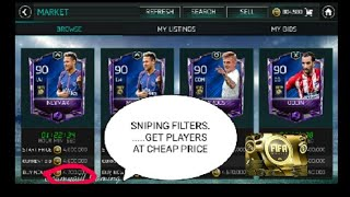 WAY TO GET CHEAP ELITES IN FIFA MOBILE 18  ......SNIPING FILTERS!!!