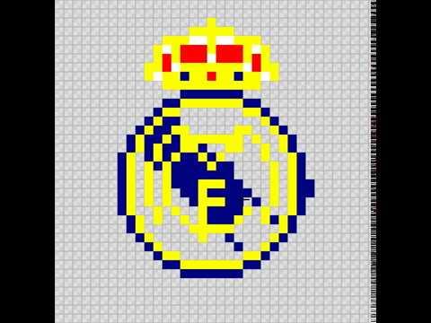 Como Dibujar El Escudo Del Real Madrid Pixelado