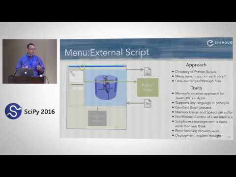 Integrating Scripting into Commercial Applications | SciPy 2