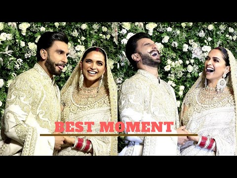 Deepika Padukone and Ranveer Singh Cute and Romantic Moment at Mumbai Royal Wedding Reception
