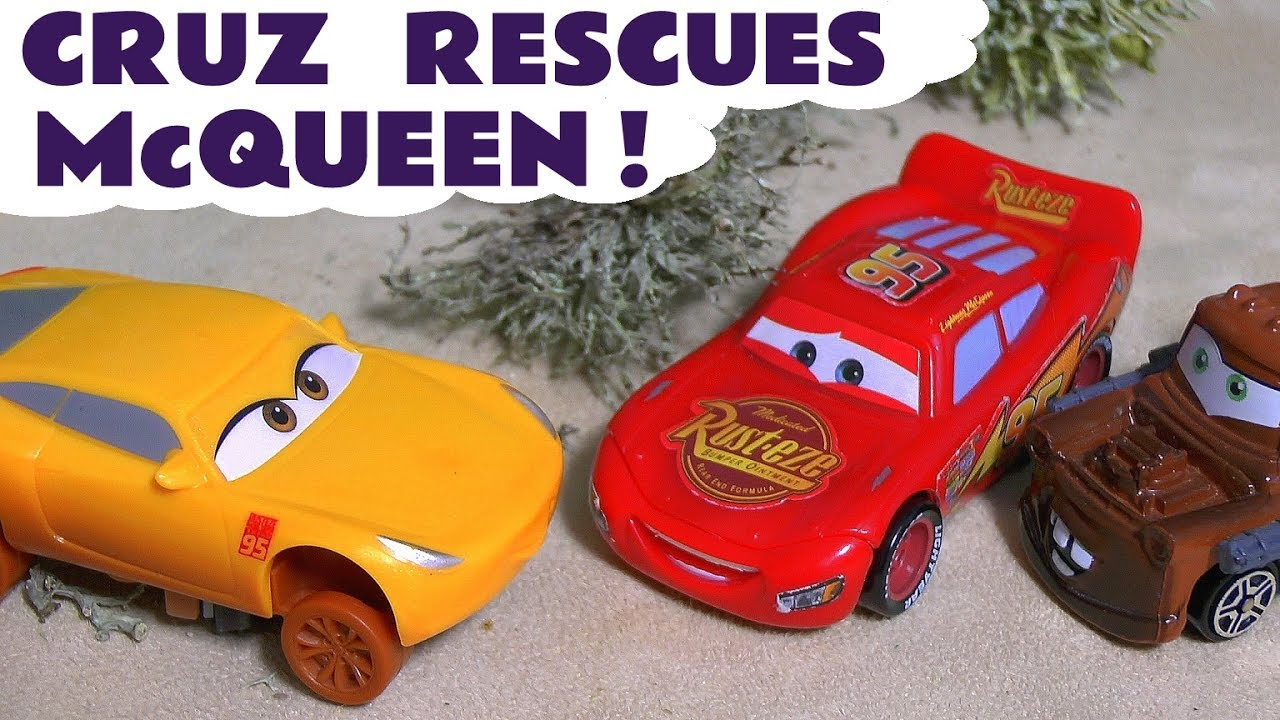 cars 3 toys disney pixar cruz rescues lightning mcqueen car toy story for kids children tt4u
