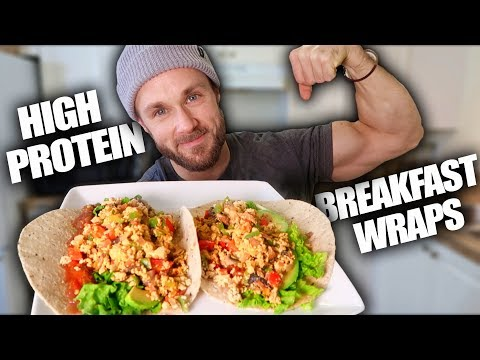 High Protein Breakfast Wraps (VEGAN)