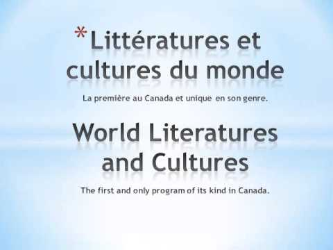 Littératures et cultures du monde / World Literatures and Cultures