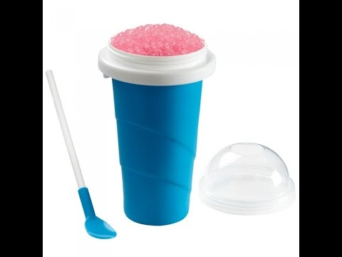 Chillfactor Squeeze Cup Slushy Maker Review Youtube