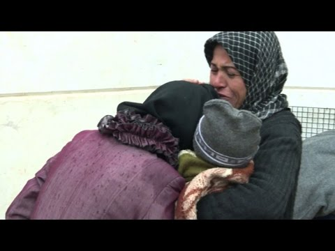 Aleppo family reunited after months separated by war