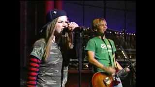 Avril Lavigne - Sk8er Boi (David Letterman 10/02/2002)