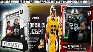 FREE TOTY FANTASY PACK! LTD SQUADS DUO EVENT! CLUB CHAMPIONSHIP BUNDLE! | MADDEN 19 ULTIMATE TEAM