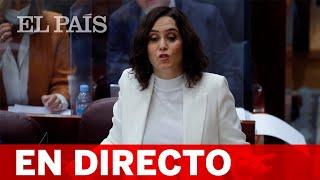 DIRECTO #CORONAVIRUS | ISABEL DÍAZ AYUSO asiste al pleno de la Asamblea de MADRID