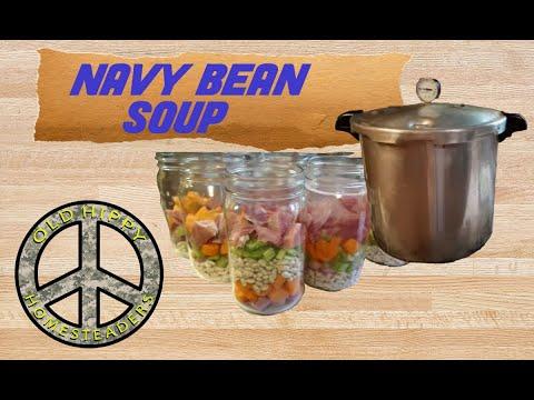 Prepper Pam navy bean soup